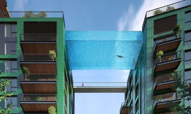 """The """"Sky Pool"""" Will Connect Two Apartment Buildings in London 