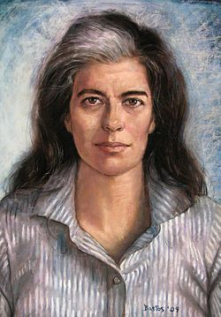 Susan Sontag by Juan Bastos, In an interview in The Guardian in 2000, Sontag was quite open about being bisexual. It was after Sontag's death that After Sontag's death, Newsweek published an article about Annie Leibovitz that made clear references to her decade-plus relationship with Sontag