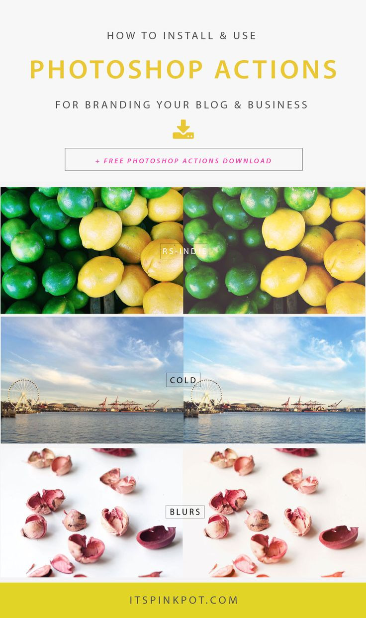 Curious about how to use photoshop actions for branding your blog & business? Here is a step by step tutorial to get you started with photoshop actions plus you can download a set of professional actions!