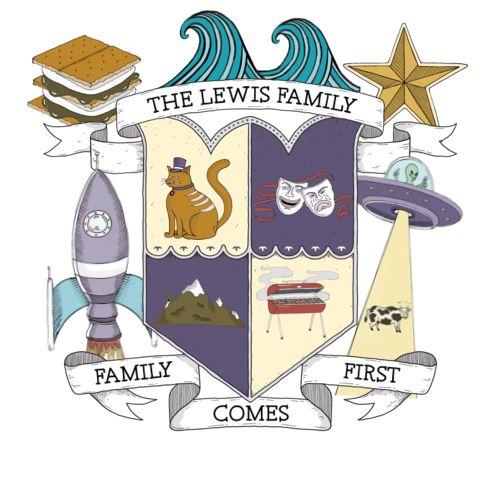 fantastic modern family crest                                                                                                                                                                                 More