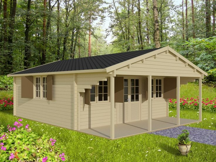 Chalet en bois finist re 36m 600x600 en paisseur 44mm for Chalet en bois solde