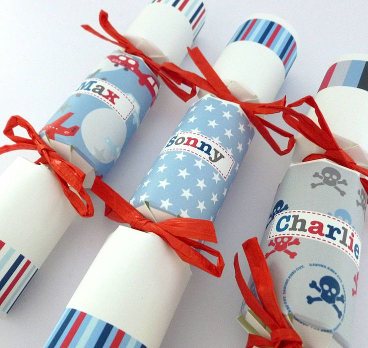 boy's personalised party cracker favour by tillie mint | notonthehighstreet.com