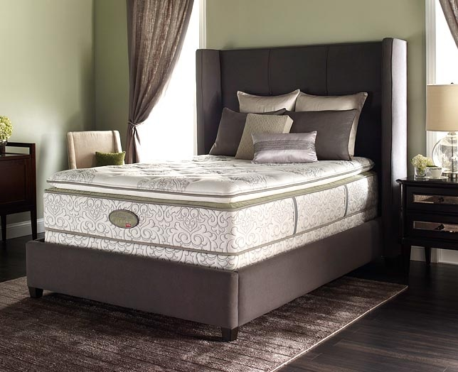 coil comfort pillowtop queen mattress and boxspring set