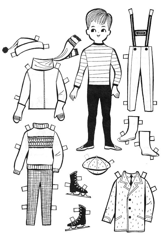 for kids paper dolls to color and cut out kids fun pinterest boys for kids and kitty. Black Bedroom Furniture Sets. Home Design Ideas
