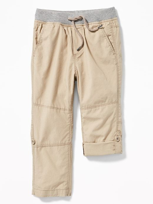 7101a344b Rib-Waist Poplin Roll-Up Pants for Toddler Boys | OLD NAVY NENA ...