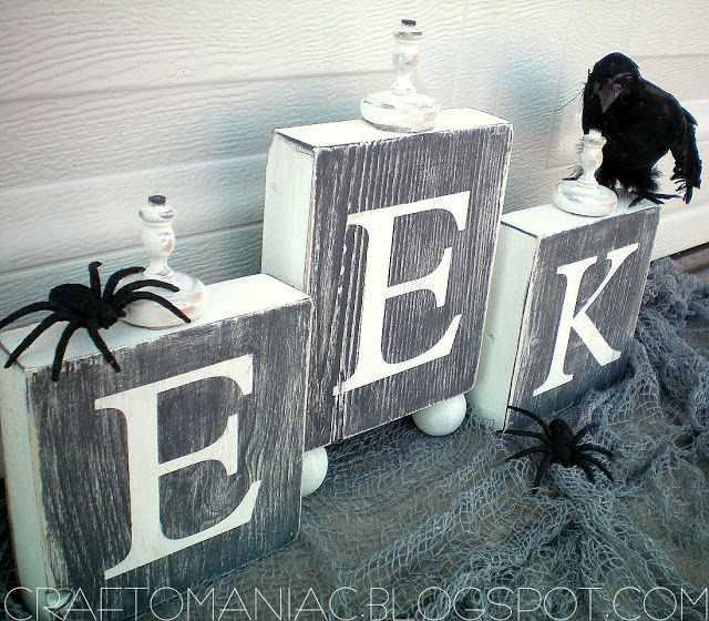 Halloween Project -- Make EEK Blocks!! {tutorial}