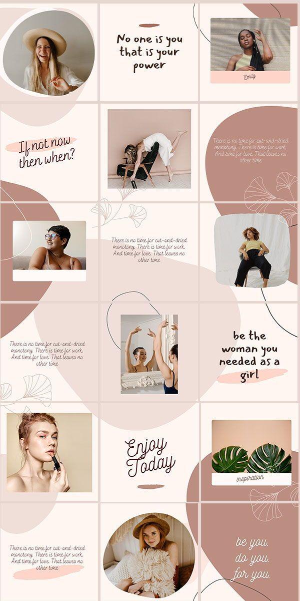 Beige Instagram Puzzle Grid Feed Template Modern Canva Etsy In 2020 Instagram Template Design Instagram Feed Ideas Instagram Grid