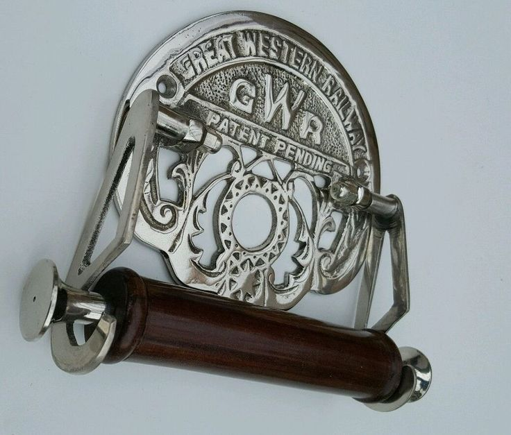 Traditional GWR Vintage Design Victorian Toilet Roll Holder Silver Chrome Finish