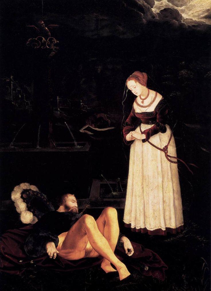 BALDUNG GRIEN, Hans Pyramus and Thisbe c. 1530 Linden panel, 93 x 67 cm Staatliche Museen, Berlin
