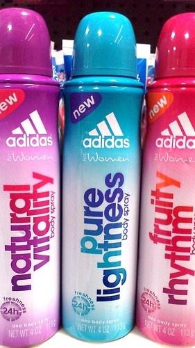 Adidas for Her Body Spray pure lightness is my fav