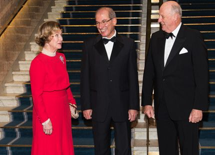 Gala Dinner in Oslo for the Nobel Peace Prize 2013At the Grand Hotel in Oslo, the King and Queen of Norway attended the gala dinner on the occasion of the awarding of the Nobel Peace Prize 2013. ( Photo copyright: stella pictures)