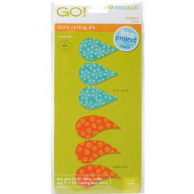 AccuQuilt GO! Fabric Cutting Dies; Feathers $24.41