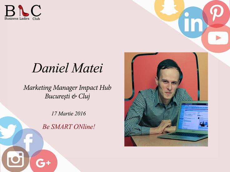 """Facebook Ads? Marketing online?  (https://goo.gl/JQyaH2)  Daniel Matei va fi alături de noi în 17 martie să ne dezvăluie cele mai eficiente metode de promovare în mediul online: """"Bagi bani, faci bani"""".  Înscrierile continuă: http://goo.gl/Hy1ipG  #BeSMARTONline"""