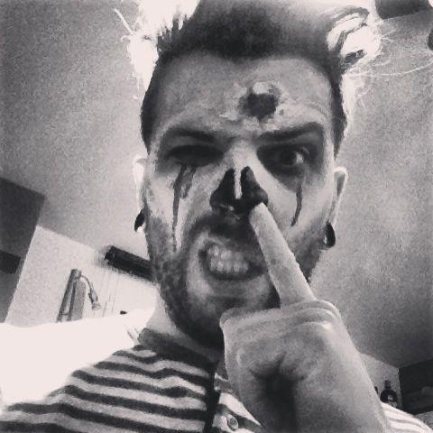 Skull face zombie