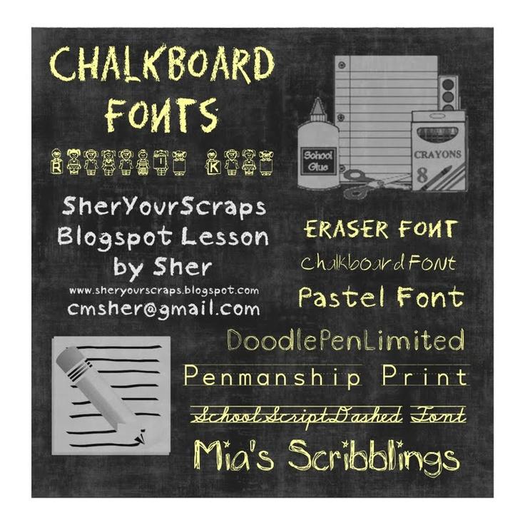 Chalk board fonts - Blackboard Art for Digital Pages