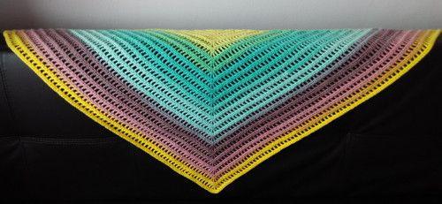 Trojcípý šátek zelený podzim