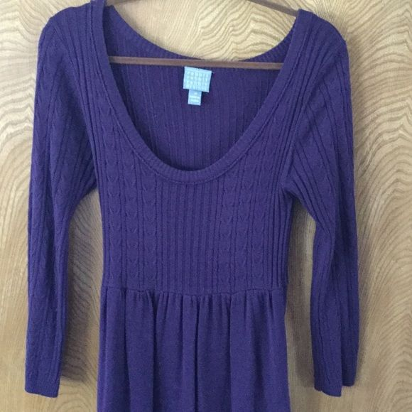 Purple / plum long sweater dress This deep purple / plum sweater dress keeps you feeling warm and looking hot, especially with some tall boots. Rabbit Rabbit Rabbit Designs Dresses