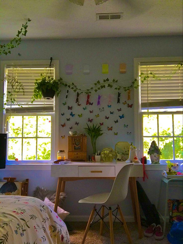 Indie Bedroom, Indie Room Decor, Cute Room Decor, Aesthetic Room Decor, My New Room, My Room, Room Ideas Bedroom, Bedroom Decor, Chambre Indie