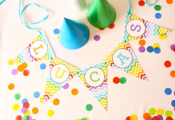 On to Baby Feature: First Birthday in a Rainbow of Colors