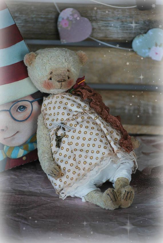 Esme :) OOAK Vintage Style Sweet Artist Teddy Bear by Natali Sekreta -  Antique style  - stuffed - home decor - gift - Birthday