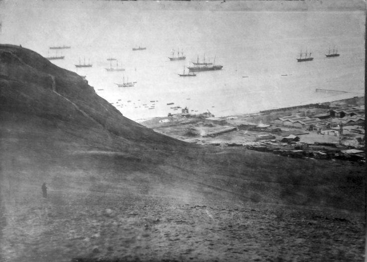 Arica, vista desde el morro. Fotografía Díaz & Spencer, 1880