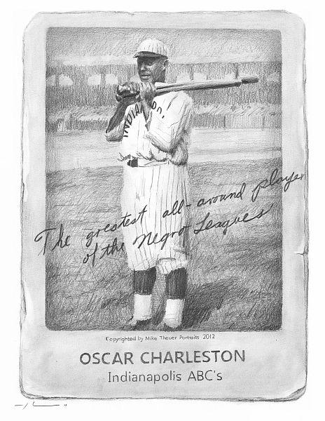 negro league baseball | Negro Leagues Baseball Card by Mike Theuer - WetCanvas