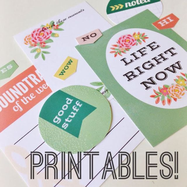 Free Watercolor and Flower #ProjectLife #JournalingCards from Michelle Yuen