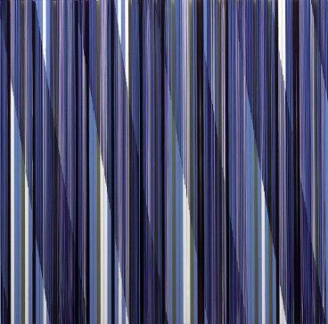 Pillar by Rachel Wickremer polycarbonate & acrylic paint, 100 x 100 cm