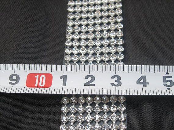 8 Zeilen 1 breit Diamond Ribbon Trim 2.6Yards von weddingfeather