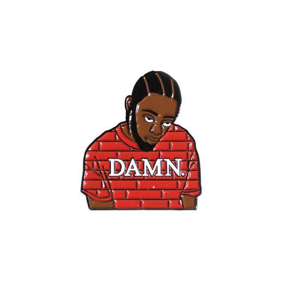 Kung Fu Kenny Kendrick Lamar Damn Enamel Pin Hip-hop Rap