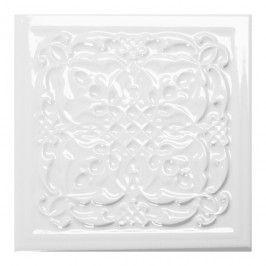 Dekor Ceramstic Armonia B 15 x 15 cm blanco