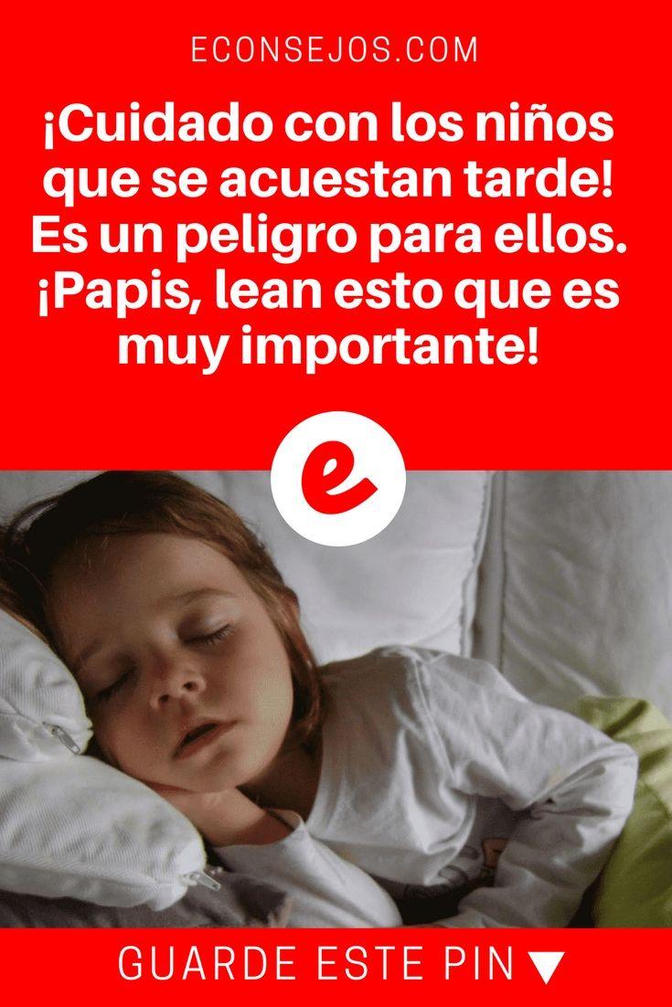Sueño del niño | ¡Cuidado con los niños que se acuestan tarde! Es un peligro para ellos. ¡Papis, lean esto que es muy importante!