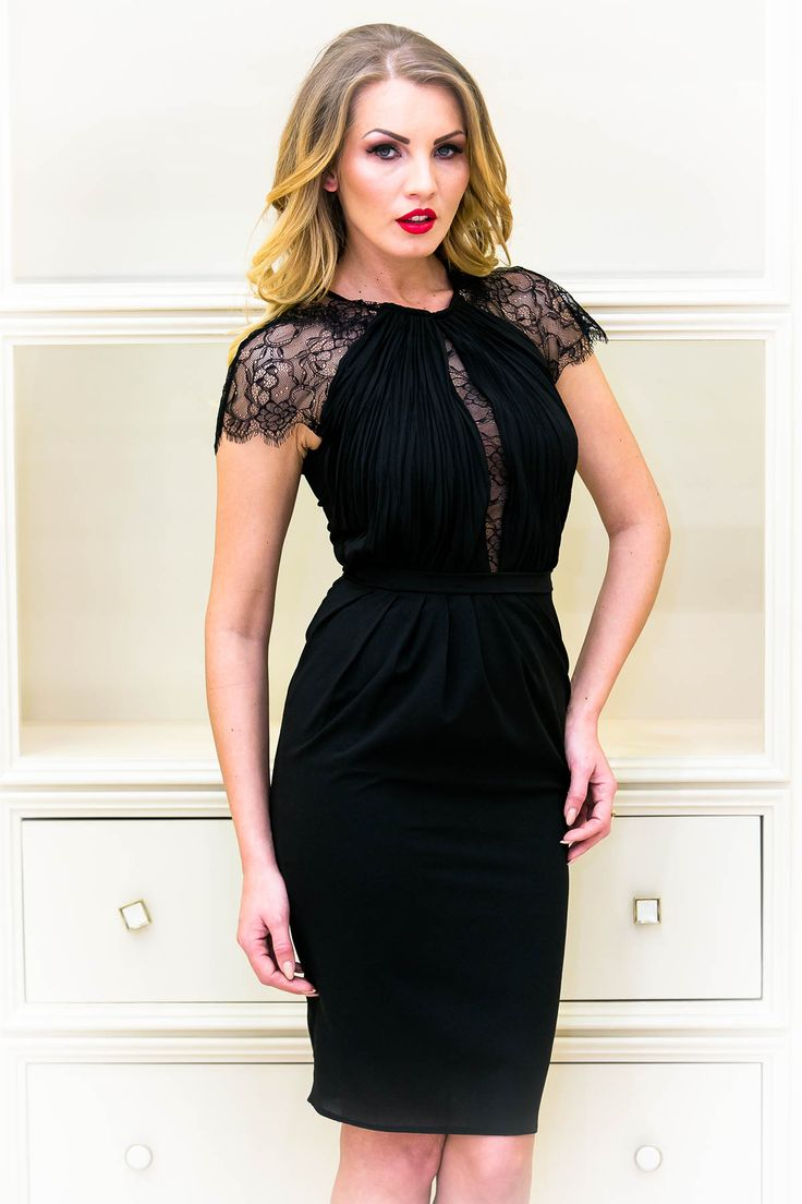 Special little black dress with lace :)