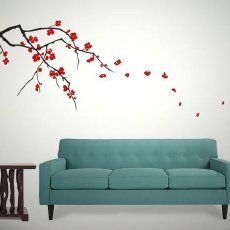 Japanese Cherry Blossom Wall Art Decals | Purchase The Asian Japanese Cherry  Blossom Branch Vinyl Wall Part 30