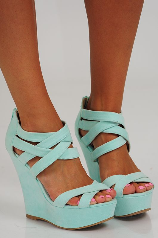 She's All That Wedges: Mint - Use the promo code HOLLIREP to get 10% off of every order plus get FREE SHIPPING with no minimum purchase!