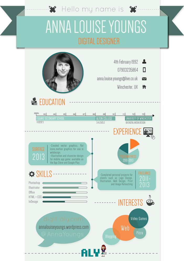 48 best Infographic Resume images on Pinterest Advertising - infographic resume