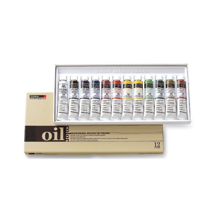 Oil Color Paint Set Shinhan Professional 12 Colors 20ml Tube Artist Drawing #Shinhan