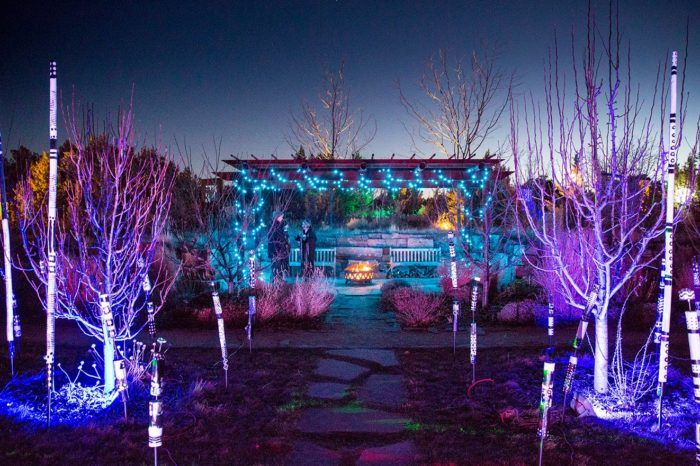 The Garden Christmas Light Displays At Santa Fe Botanical Garden In New Mexico Is Pure Holiday Magic Christmas Light Displays Holiday Lights Display Light Display