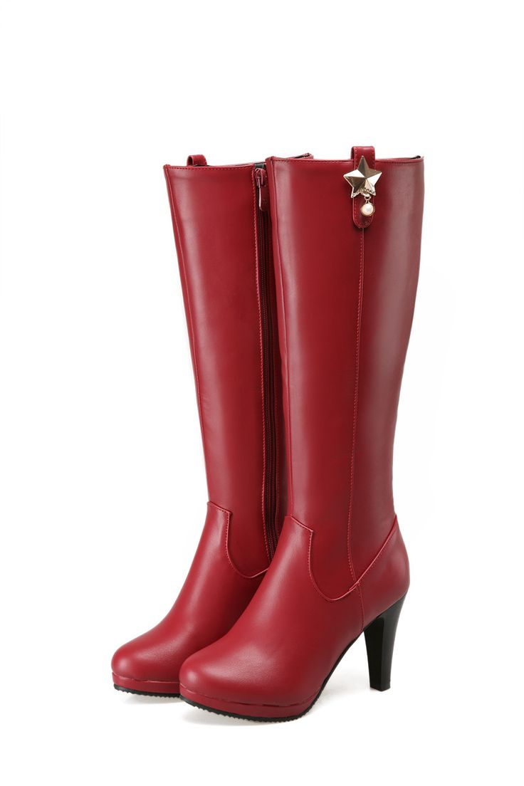 25 best ideas about knee high heel boots on