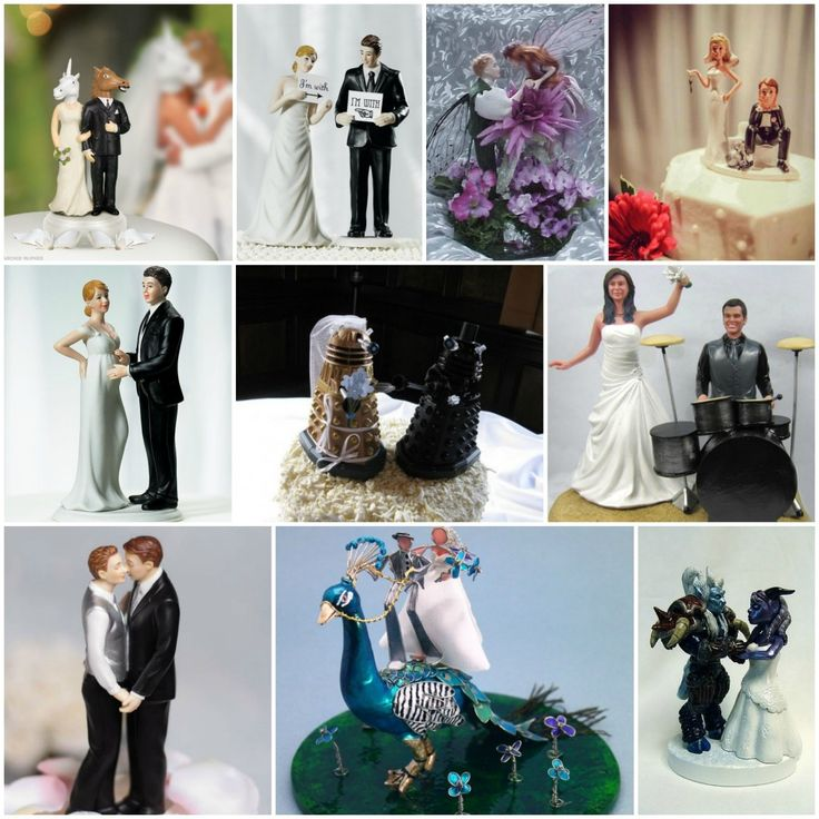 22 best Unusual Wedding Cake Toppers images on Pinterest