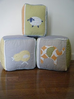 made from the baby crib bumper pads!