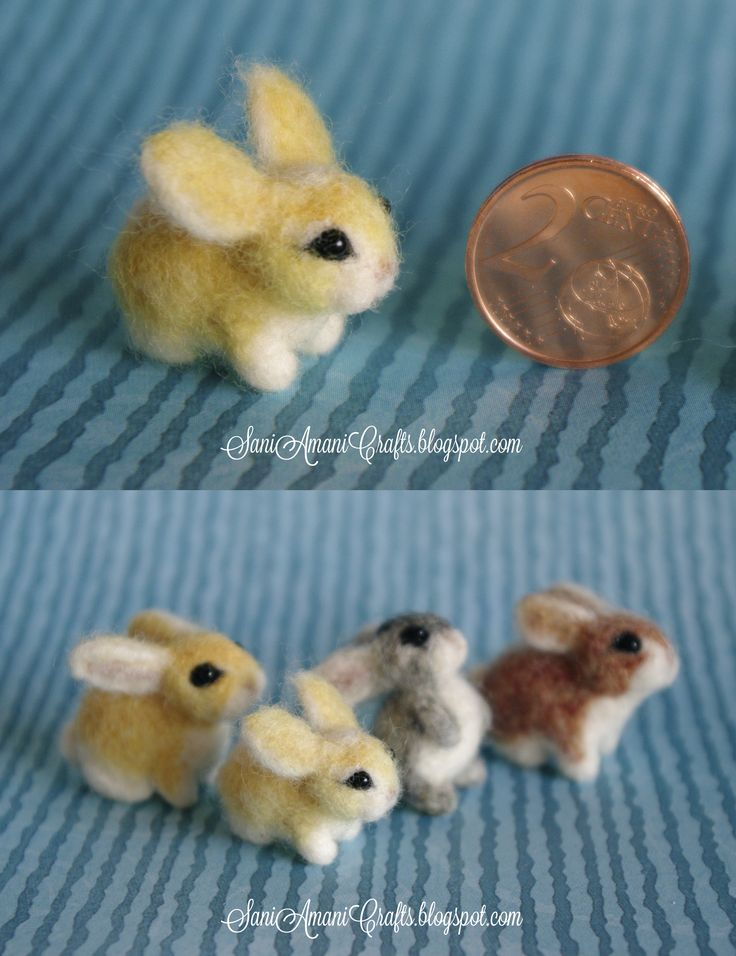 Needle felted bunny family miniature                                                                                                                                                                                 More