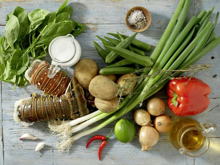 Zutaten für das Rezept: Kreolischer Langusten-Eintopf