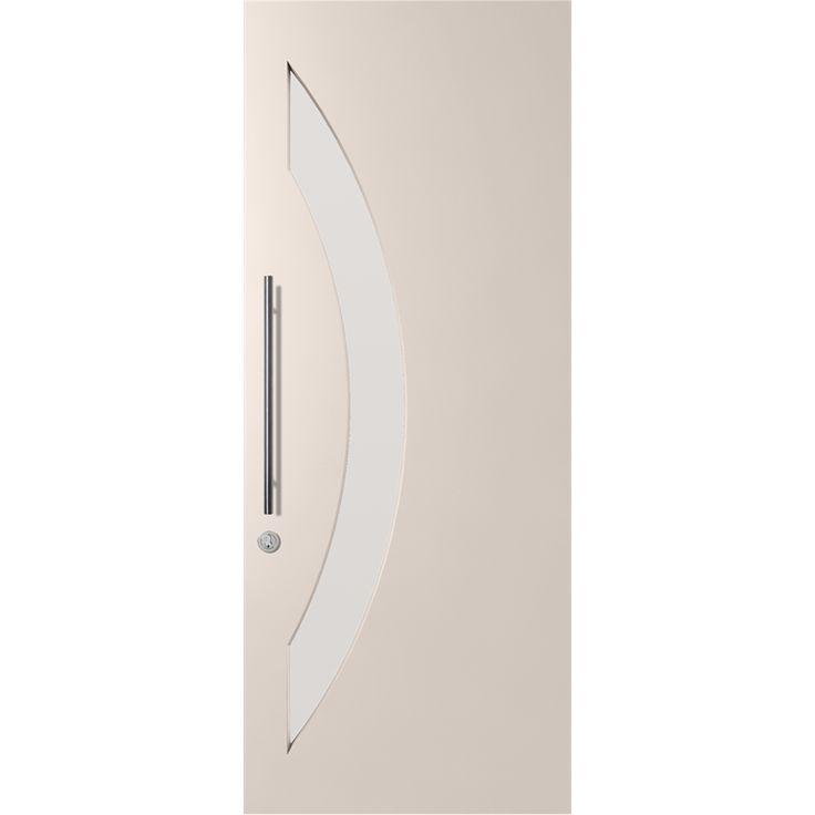 Corinthian Doors 2040 x 820 x 40mm Translucent Glass Primed Madison Entrance Door