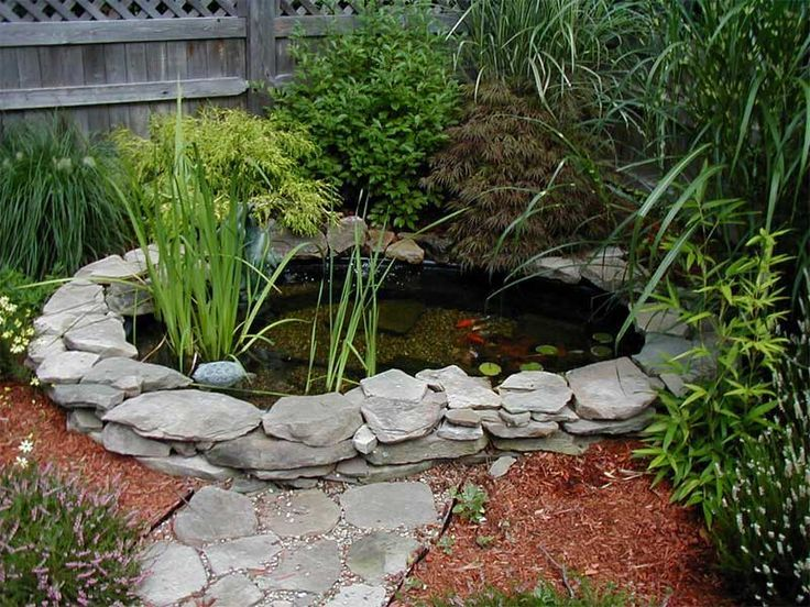 image result for pictures pond with thin fieldstone edge