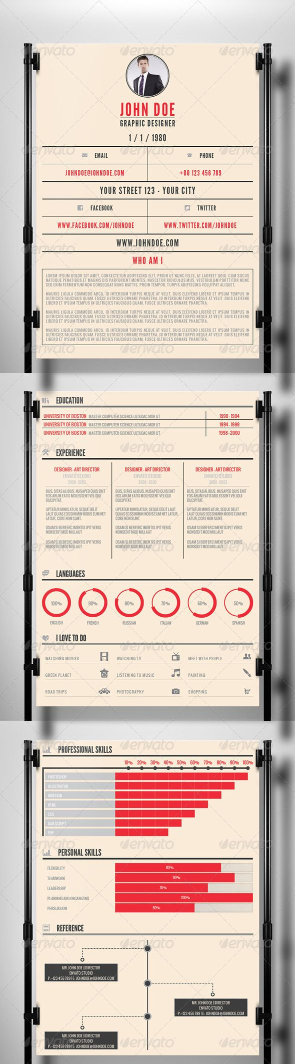 20 best images about creative resumes on pinterest