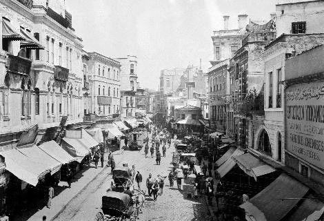 Sultan II.Abdülhamid fotoğraf arşivinden İstanbul'da hayat..Karaköy