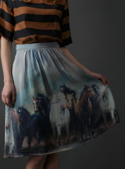 horsesSilk Skirts, Stallion Prints, Milk, Horses Skirts, Horses Prints Skirts, Fashioni Things, Pretty Skirts, Sophia Silk, Wild Hors
