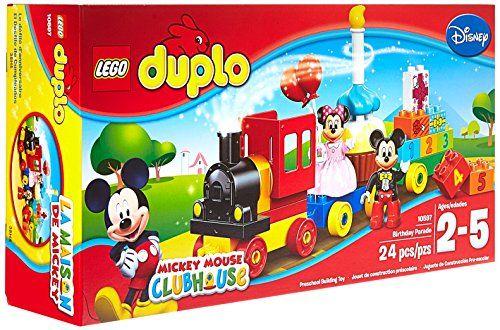 LEGO DUPLO Brand Disney 10597 Mickey and Minnie Birthday Parade Building Kit LEGO http://smile.amazon.com/dp/B00WHYM1XQ/ref=cm_sw_r_pi_dp_25lvwb0Z1N19Y