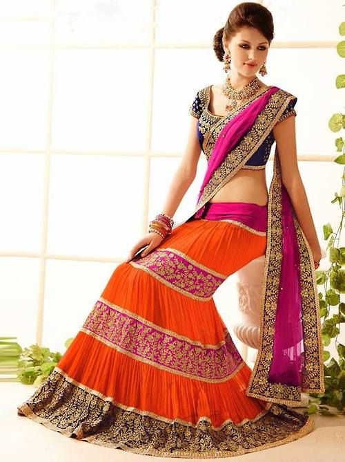 Saree lehenga style #saree #sari #blouse #lehenga #choli #indian #hp #shaadi #bridal #fashion #style #desi #designer #blouse #wedding #gorgeous #beautiful